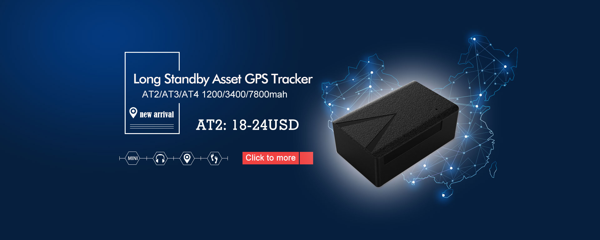 Long standby Asset gps tracker