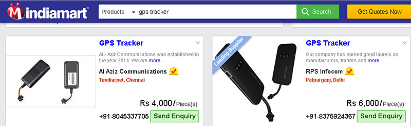 gps tracking device online india market condition