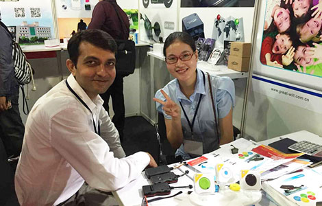 13th china products(Mumbai India) Exhibition 2015 Gps tracker