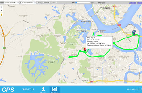 GPS Tracking system Platform Feature design